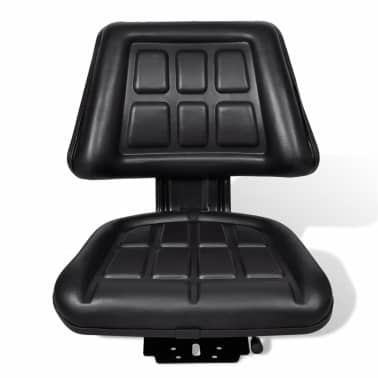 vidaXL Tractor Seat with Backrest Black[2/6]