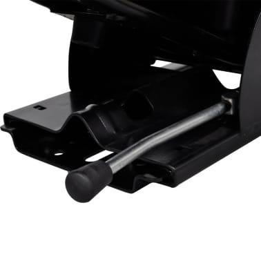 vidaXL Traktoriaus sėdynė su amortizatoriumi, juoda[5/9]