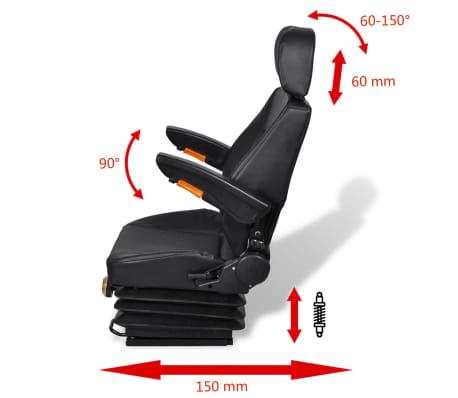 vidaXL Traktoriaus sėdynė su amortizatoriumi[4/8]