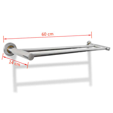 Stainless Steel Towel Rack 2 Tubes[7/7]
