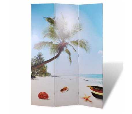 vidaXL Folding Room Divider 120x170 cm Beach