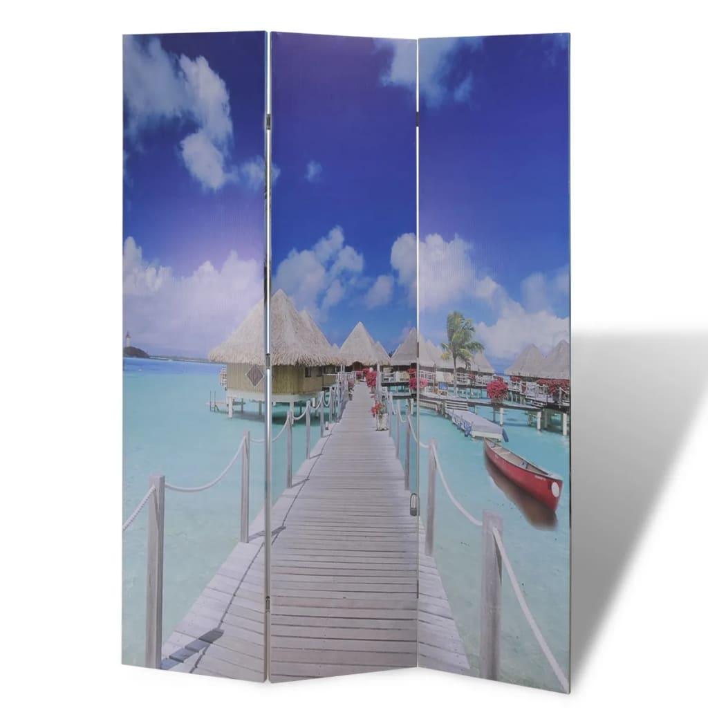 999240474 Raumteiler klappbar 120 x 170 cm Strand