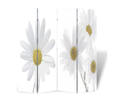 vidaXL Kambario pertvara, sulankstoma, 160x180cm, gėlės paveikslėlis