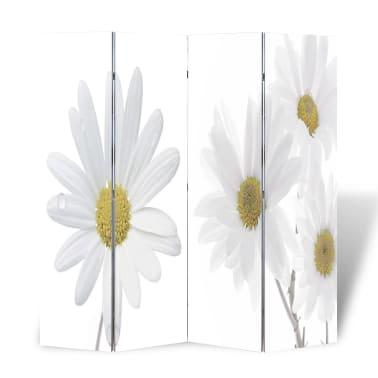 """vidaXL Folding Room Divider 63""""x66.9"""" Flower[1/5]"""