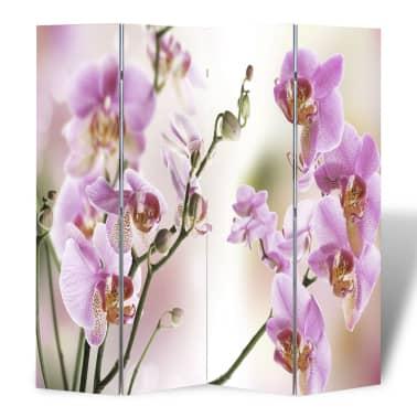 """vidaXL Folding Room Divider 63""""x66.9"""" Flower[4/5]"""