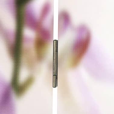 """vidaXL Folding Room Divider 63""""x66.9"""" Flower[5/5]"""