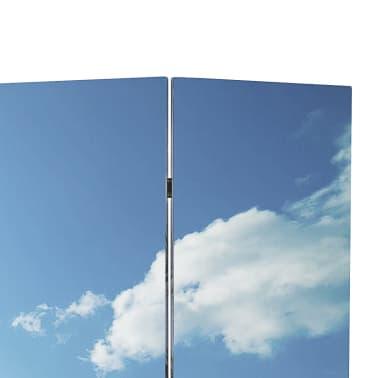 vidaXL Folding Room Divider Print 200 x 170 Beach[2/5]