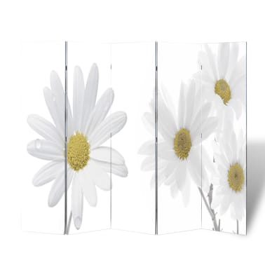 "vidaXL Folding Room Divider 78.7""x66.9"" Flower[1/5]"