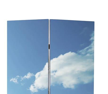 vidaXL istabas aizslietnis, 240x170 cm, saliekams, pludmales ainava[2/5]