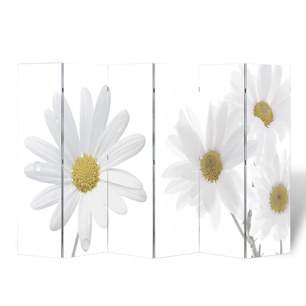 vidaXL Skládací paraván 240 x 170 cm květina