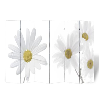 "vidaXL Folding Room Divider 94.5""x66.9"" Flower[1/5]"