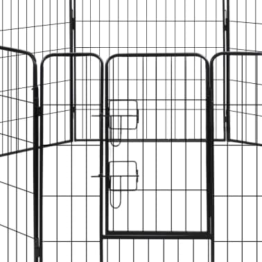 vidaXL løbegård til hunde 8 paneler stål[2/3]