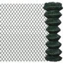 "vidaXL Chain Link Fence Galvanised Steel 4' 1""x49' 2"" Green"