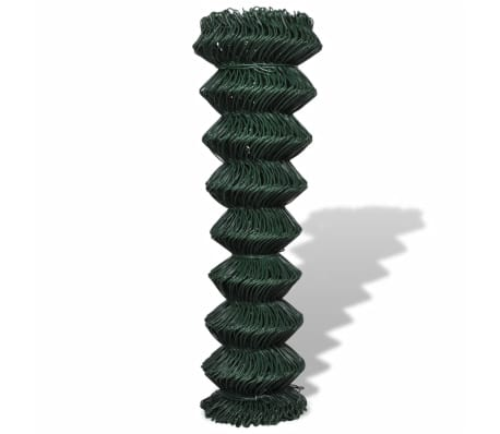 "vidaXL Chain Link Fence Galvanised Steel 4' 9""x49' 2"" Green[2/3]"