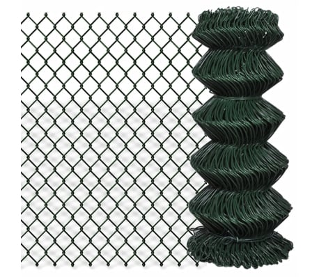 "Chain Fence 2' 7"" x 82' Green[1/3]"