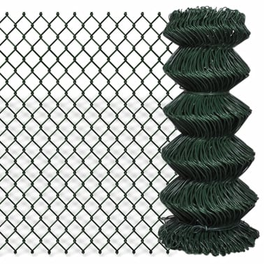 vidaXL Chain Link Fence Galvanised Steel 2