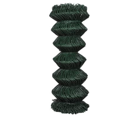 "vidaXL Chain Link Fence Galvanised Steel 3' 3""x82' Green[2/3]"