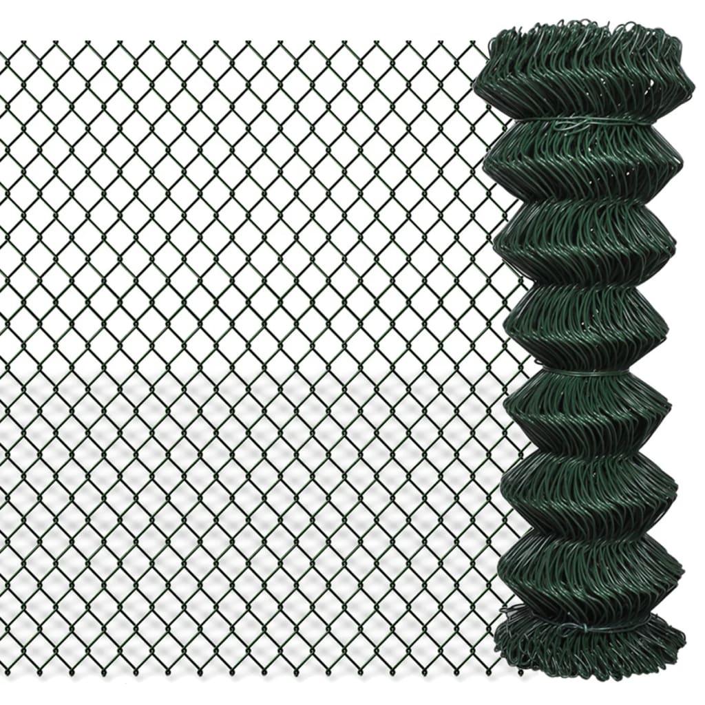 vidaXL Chain Fence 1,25 x 25 m