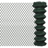vidaXL Tinklinė tvora, žalia, 1,25x25m, cinkuotas plienas