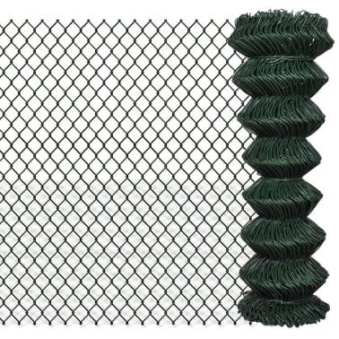 vidaXL Chain Link Fence Galvanised Steel 4