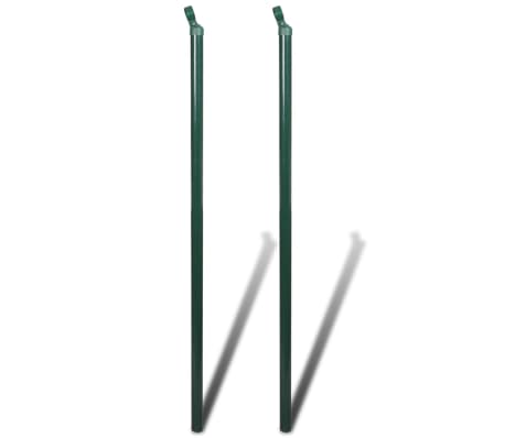 "Chain fence 2' 7"" x 49' 2"" Green with Posts & All Hardware[7/8]"