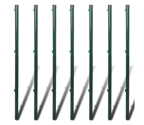 "vidaXL Chain Link Fence with Posts Galvanised Steel 3' 3""x49' 2"" Green[8/8]"