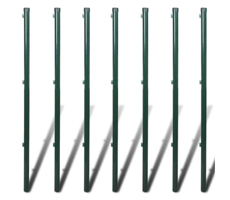 "vidaXL Chain Link Fence with Posts Galvanised Steel 4' 1"" x 49' 2"" Green[8/8]"