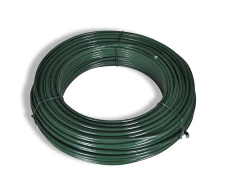 """Chain fence 4' 9"""" x 49' 2"""" Green with Posts & All Hardware[4/8]"""
