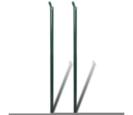 """Chain fence 4' 9"""" x 49' 2"""" Green with Posts & All Hardware[7/8]"""