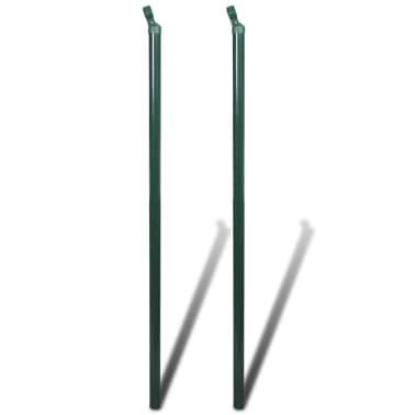 Žalias Tvoros Tinklas, su Stulpais ir Tvirtinimo Elementais, 0,8x25 m[6/8]