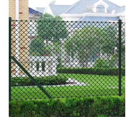"Chain Fence 2' 7"" x 82' Green with Posts & All Hardware[1/8]"