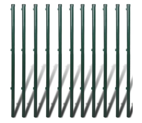 "vidaXL Chain Link Fence with Posts Galvanised Steel 3' 3"" x 82' Green[8/8]"