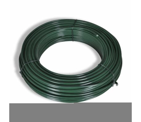 """vidaXL Chain Link Fence with Posts Galvanised Steel 59.1""""x 984.3"""" Green[4/8]"""