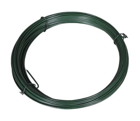 "vidaXL Fence Binding Wire 82' 0.06""/0.08"" Steel Green"