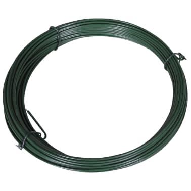 vidaXL Viela tvorai, lankstoma, 25m, 1,4/2mm, plienas, žalia[1/2]