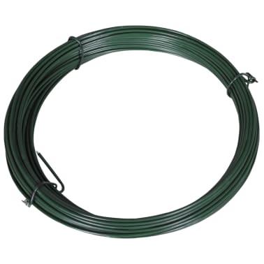 vidaXL Viela tvorai, lankstoma, 25m, 1,4/2mm, plienas, žalia[2/2]