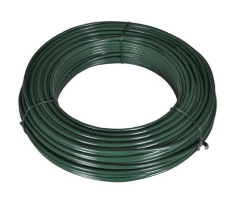 vidaXL Viela tvorai, 55m, 2,1/3,1mm, plienas, žalia[1/2]