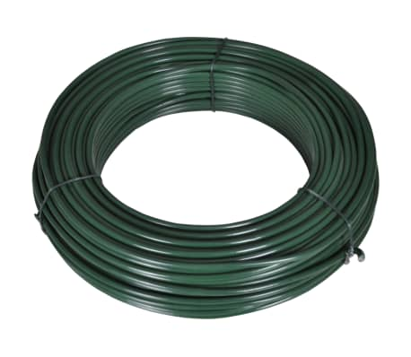 vidaXL Fence Span Wire 80 m 2.1/3.1 mm Steel Green