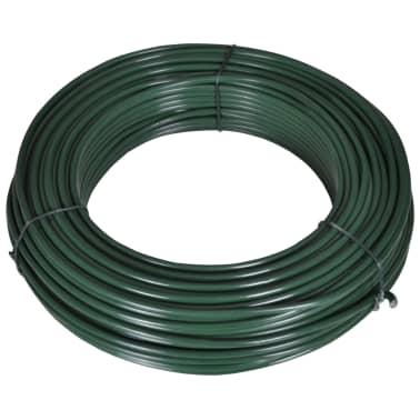vidaXL Filo per Recinzione 80 m 2,1/3,1 mm in Acciaio Verde[1/2]