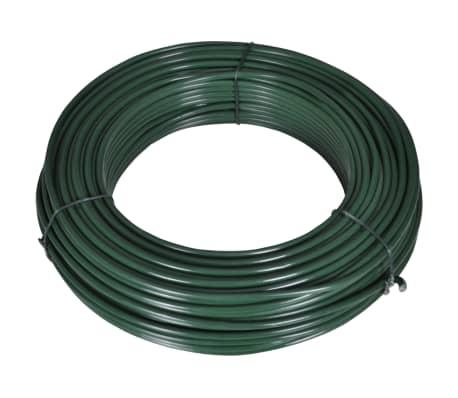 vidaXL Filo per Recinzione 80 m 2,1/3,1 mm in Acciaio Verde[2/2]