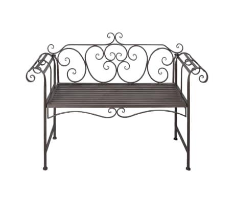 """vidaXL Garden Bench 52"""" Steel Antique Brown[2/5]"""