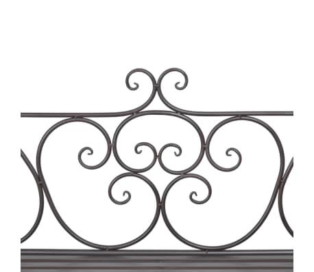 vidaXL Trädgårdsbänk 132 cm stål antikbrun[4/5]