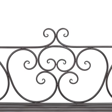 """vidaXL Garden Bench 52"""" Steel Antique Brown[4/5]"""