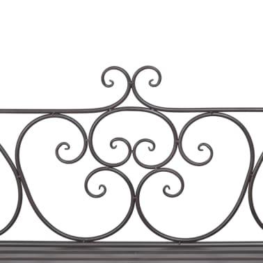 vidaXL Garden Bench 132 cm Steel Antique Brown[4/5]