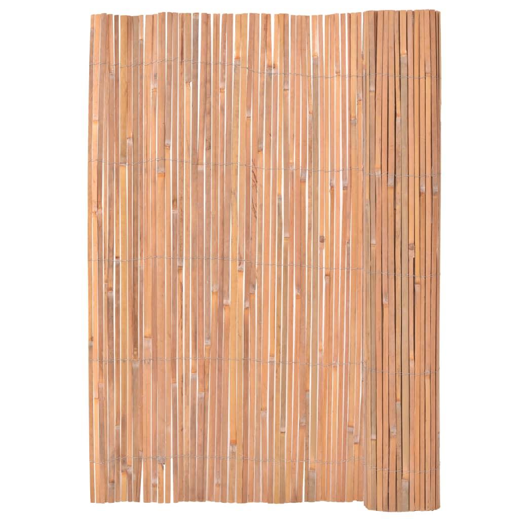 Claustra Treillis Exterieur Bois clôture en bambou 200 x 400 cm - 140393