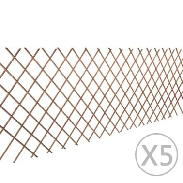 Trädgårdsstaket vide utdragbart 90x180 cm 5-pack[1/4]