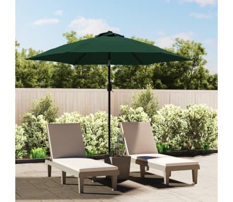 Parasol ogrodowy, zielony, 3 m