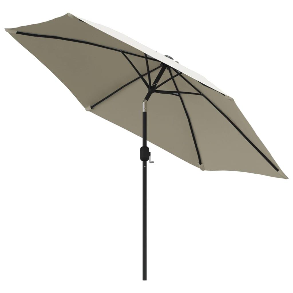 vidaXL Parasol met stalen paal 3 m zandwit
