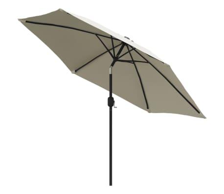 vidaXL parasol sandhvid 3 m stålstang[2/6]