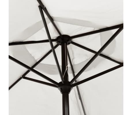 vidaXL parasol sandhvid 3 m stålstang[4/6]